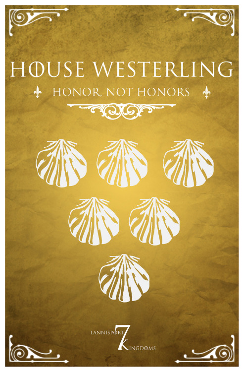 housesigilsandmottoes:  House Westerling (x)