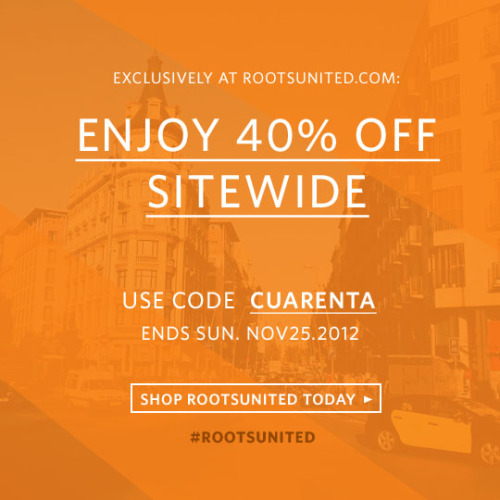 "Enjoy 40% OFF sitewide with code ""Cuarenta"""