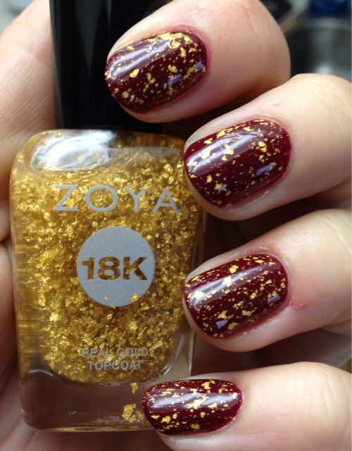 becktasm:  China Glaze Merry Berry, Zoya Gilty