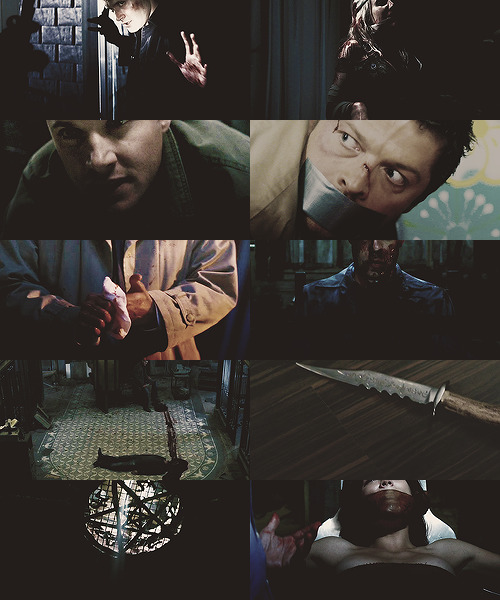 thepromisedlandishere:  Some times, Castiel wonders how he got here. How he went from being one of the top experts in his field to sleeping in the back seat of a big black car on cold winter nights. How did he end up here, with this man, this green-eyed killer that he loves so much? Some times he wonders, but he never regrets. The Promised Land Is Here, a Dean/Castiel serial killer AU.  Read here! Please heed the warnings.