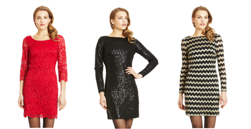 Holiday Dresses from Nine West - $69.99 (Originally $129)  Still looking for the perfect outfit for your work holiday party, or a get-together with friends? I love everything for sale by Nine West on Ideeli today - I mean, who can say no to sparkly chevron print?