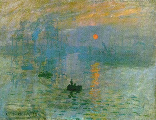 """Sunrise,"" Claude Monet"