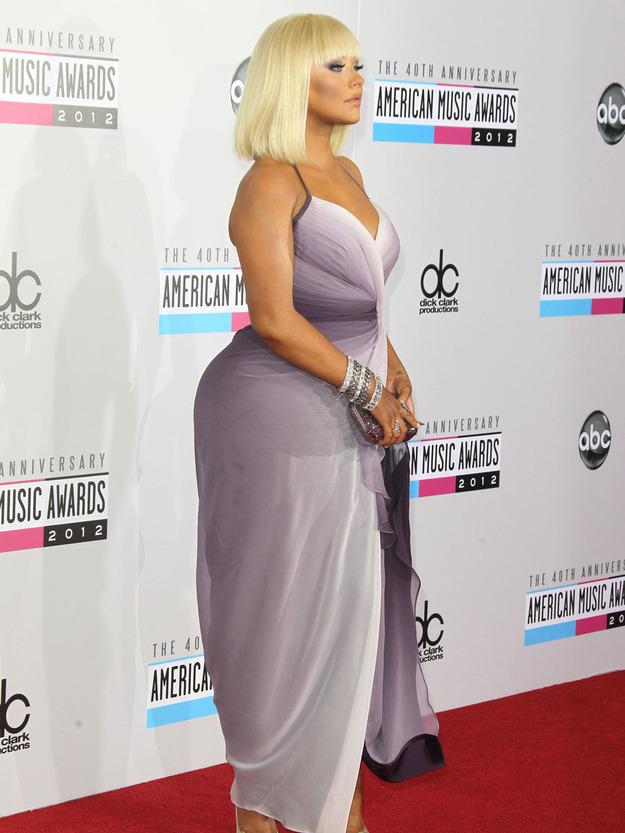 Christina Aguilera's butt at the American Music Awards (NOT PHOTOSHOPPED!!!!!)