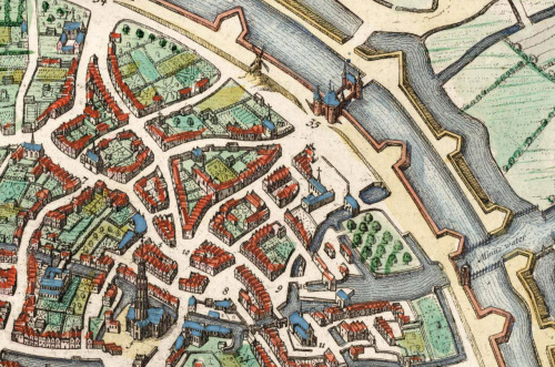 Willigula A Detail From The Map Of Bruges By Jan Blaeu