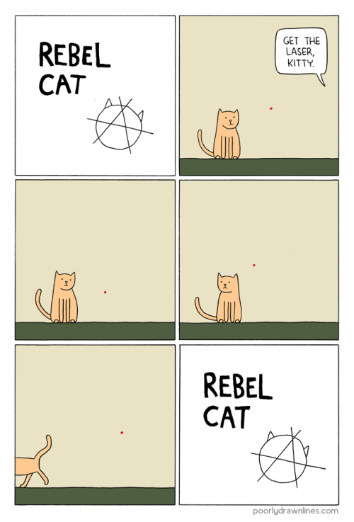 wilwheaton:  (via Poorly Drawn Lines – Rebel Cat)