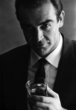 nonconcept:  Sean Connery, advertising shoot Smirnoff Vodka, 1962.