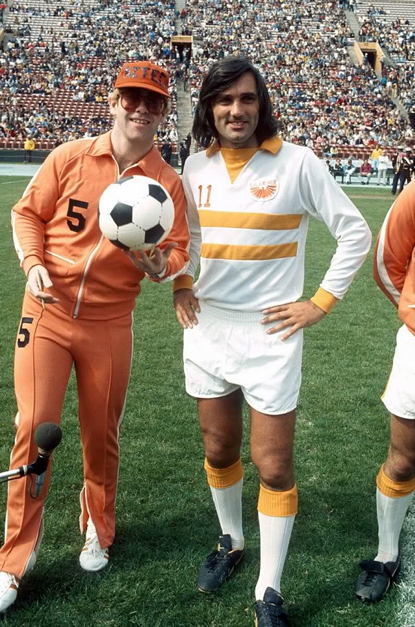 xiquarterly:  George Best and Los Angeles Aztecs Co-Owner, Elton John.