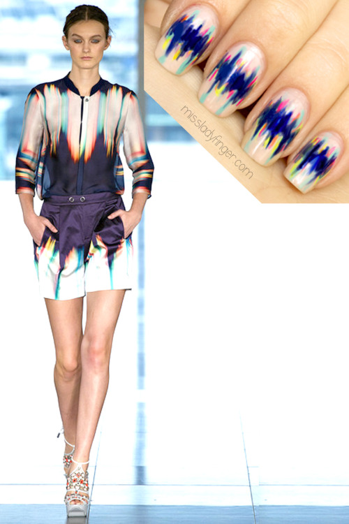 MANICURE MUSE: Matthew Williamson Spring '13 Color theory by the master. Translation by Miss Ladyfinger.  Lesson for these Ladyfingers inside…