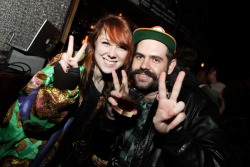 Kitty Pryde & Nick Gazin at Fat Tony's BKNY video release party  © Laura June Kirsch