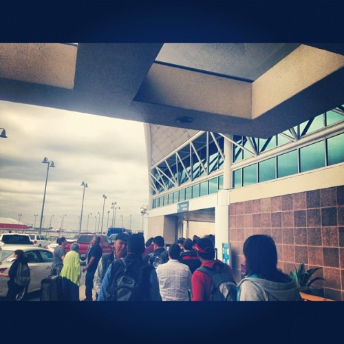 jillianann:  Waiting in line for the sidewalk check in glad I'm early but I have a feeling tsa won't know what to do with me (at San Antonio International Airport (SAT))  ♥♫♥ http://www.reverbnation.com/artist/artist_shows/352062 ♥♫♥ ♥♫♥ http://www.beatport.com/artist/jillian-ann/171427 ♥♫♥ ♥♫♥ http://www.reverbnation.com/jillianann ♥♫♥ ♥♫♥ http://jillianann.bandcamp.com/ ♥♫♥ ♥♫♥ http://www.djjillianann.com/ ♥♫♥:) ♥♫♥ http://rvrb.fm/Z90h3i  ♥♫♥