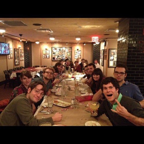 CollegeHumor Behind the Scenes  We took a family field trip to have dinner at Guy Fieri's restaurant in Times Square last night. @streeterseidell @sarahdschneider @alexanderwatt @marinarachael @kevincorrigan @obparsons @samreich @eaxford (at Guy's American Kitchen and Bar)  We put our money where our mouth is.