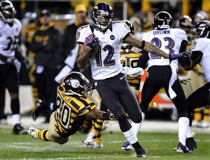Jacoby Jones returned a punt 63 yards for a score.