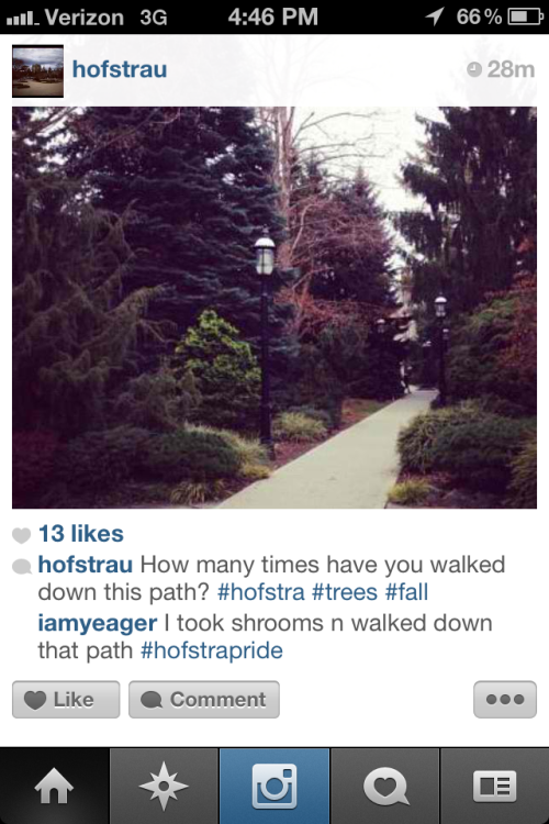 Please read the comment. Hofstra's finest.