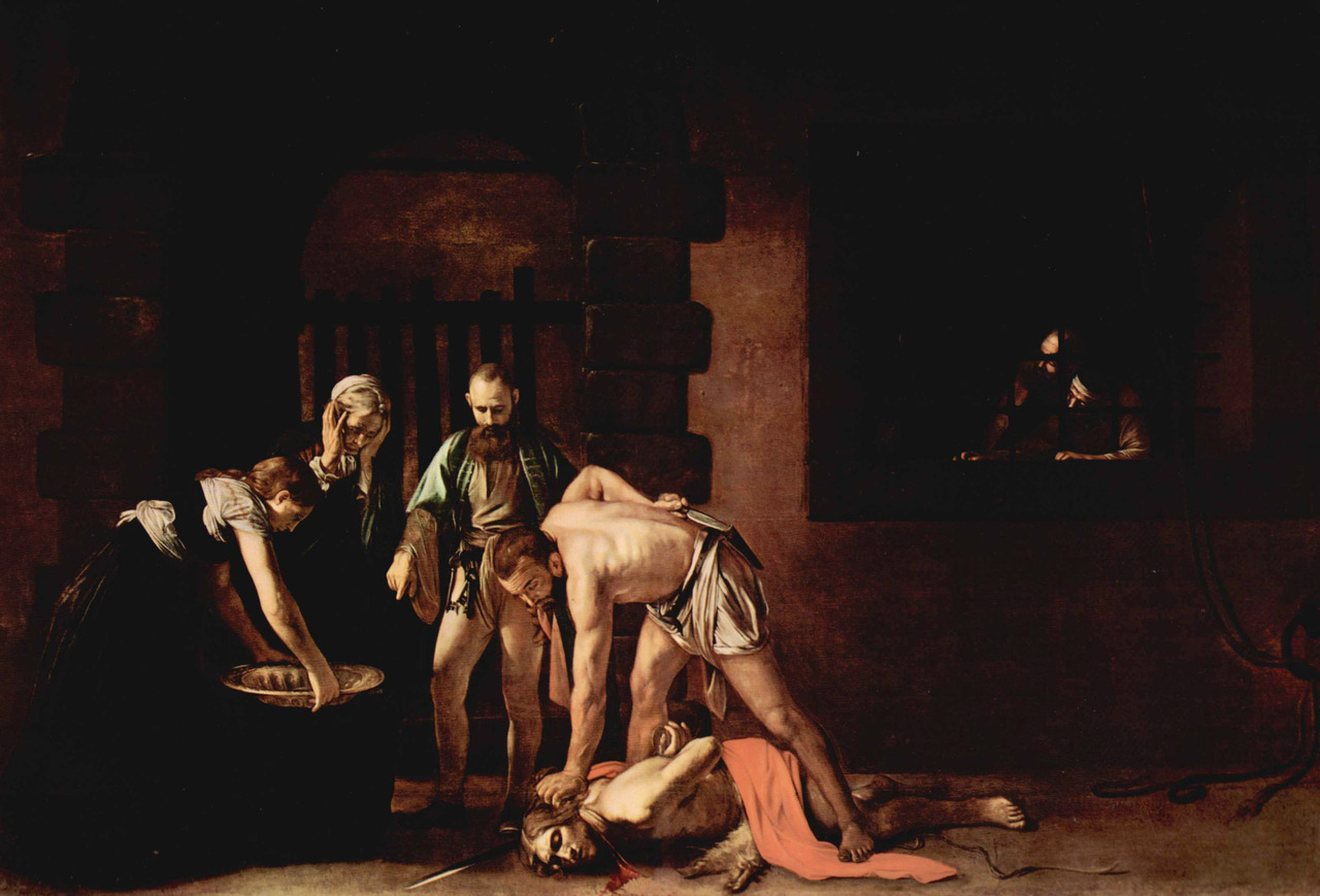 The beheading of Saint John the Baptist (1608), oil on canvas, St. John's Co-Cathedral, Valletta | artwork by Caravaggio