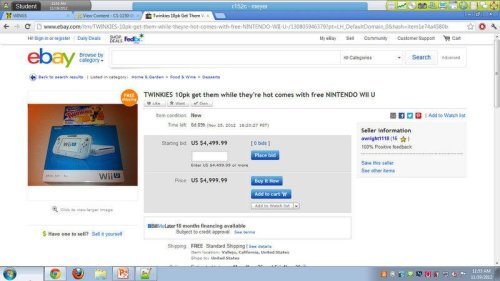 "Twinkies on Ebay Come with Free Nintendo Wii U  In the business world, that's what's known as ""a weird and terrible deal"""
