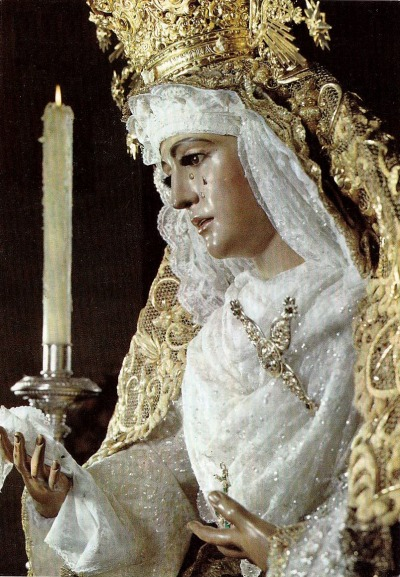 allaboutmary:  La Esperanza de Triana The Virgin of Hope of Triana in Seville, Spain.