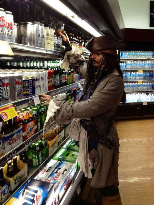 silencingthedrums:  copyx:  why the hell is he drinking beer  Because the rum's gone  SCREAMING