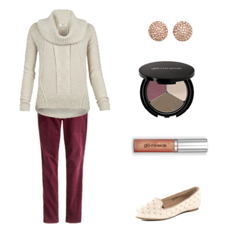 The perfect outfit and makeup combo for a casual Thanksgiving dinner!