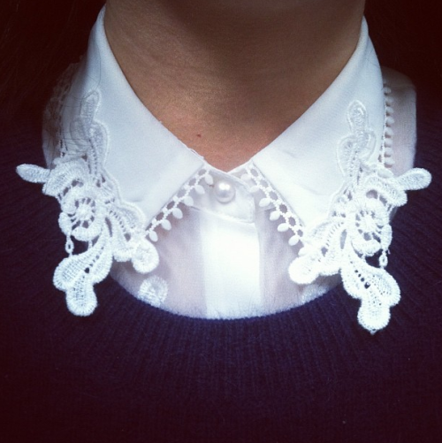 Pretty lace collar from Topshop on Fashion Assistant Marianne Dabir