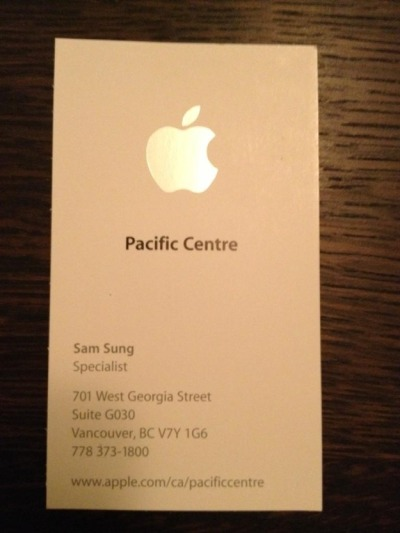Apple Store Employee - Sam Sung