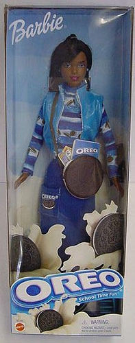 "theworstthingsforsale:  Why was the Oreo Barbie removed from toy stores almost as soon as it was released? Could it have been the fact that they labeled a black woman as an ""Oreo"", and that's offensive and demeaning? Yes, that's exactly why, as a matter of fact.  This is fantastic. I can only imagine that Oreo and Barbie teamed up and Oreo was like ""You know, we'd like to advertise our cool product with a black doll. There are too many white dolls! Plus, what better way to make this doll more desirable than to pair it with a delicious snack?"" Five months later the whole team from Oreo and Barbie are getting shitfaced in a bar. ""Why didn't we google this shit?"""
