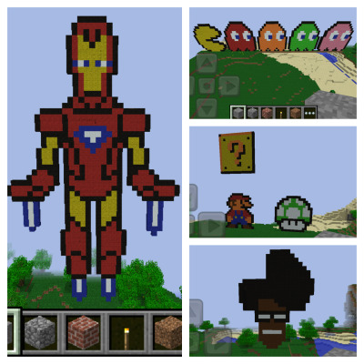 Hooked on Minecraft! Spending too much time coming up with these creations.