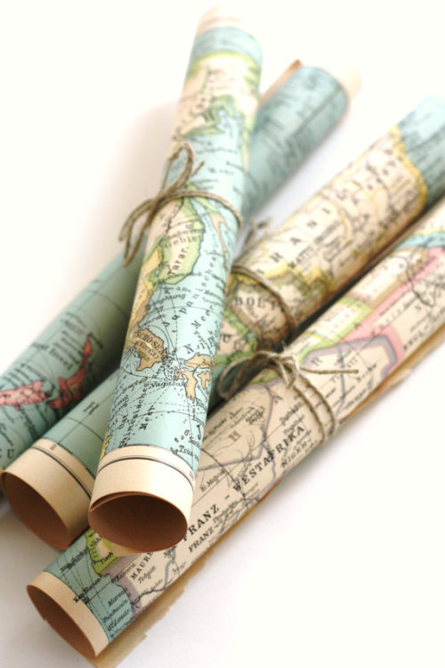 bella-illusione:  Etsy Rolled Maps