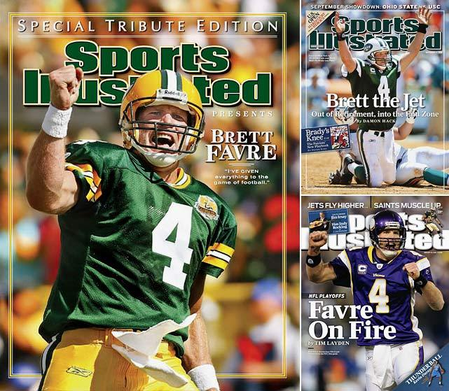 Brett Favre may want to consider another comeback. After throwing three touchdowns on Sunday, Peyton Manning climbed to second all-time in passing TDs with 423. Favre is in first place with 508. Will the Broncos quarterback stick around long enough to break Favre's record? Time will tell. (John Biever/SI, Bob Rosato/SI) GALLERY: NFL Career Passing Touchdown Leaders