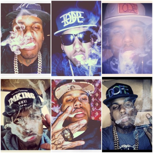 Kid Ink And I Have  The Same Hats Except The IMKING One -.-