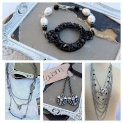 Holiday Collection is In The Shop~ Part I Silver and Sparkle!  #vintagejewelry #vintagerhinestone #vintagepearl #necklace #bracelet #simplymeart  (at Simply Me Art Studio)