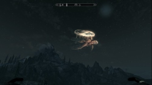 Great A'tuin and the Discworld in the Elder Scrolls V: Skyrim!
