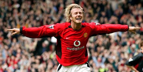 thebootbible:  Just one year at Utd, Becks? Okay - I'll even take a few months. Come on, SAF…You called up Owen before.No but in all honesty, Beckham even said so himself that the only English team he'd ever play for again would be Utd…He's there biggest fan. Would love to see him end his career at Old Trafford where it all started for him.   same here hes an absolute legend. we need some of those curling crosses and deadly free kicks. trust me, one season with us well win the premier league…AGAIN. sheer class