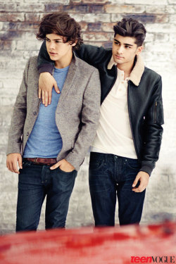1d-rocked-me:  Zarry on Teen Vogue. AHH THEY ARE SO HOT