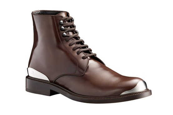 Louis Vuitton Metal Lace-Up Boots Fall/Winter 2012
