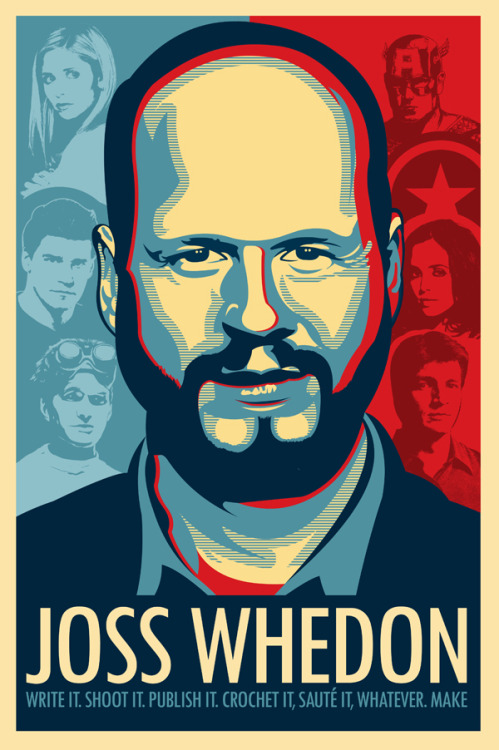 fuckyeahjosswhedon:  tomtrager:  Joss Whedon is my master now! Available as a poster, t-shirt, iPad case, and/or anything else.  http://www.redbubble.com/people/tomtrager/works/9626240-joss-whedon-is-my-master-now  This is fantastic!