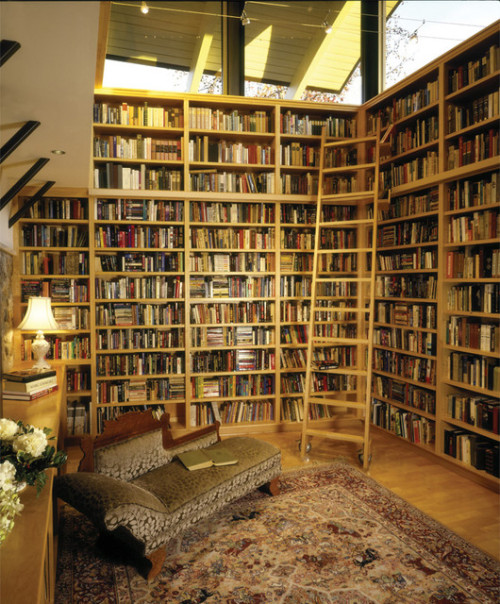 library (via Freed Residence - eclectic - family room - los angeles - HartmanBaldwin Design/Build)