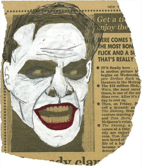 "This one was how Jack Nicholson came to be cast as The Joker In 1980, while scheming a silver screen pitch, Michael Uslan, the man who bought the rights to ""Batman,"" came across a promotional image of Nicholson's character from ""The Shining"" in the New York Post… Uslan painted over the image with whiteout and transformed Nicholson's furious features into that of the clownish villain. Via"
