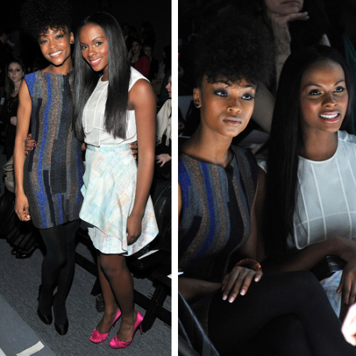 Beauties: Yaya DaCosta & Tika Sumpter.
