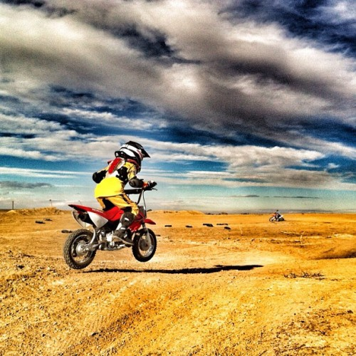 The Spyder family js made up of adrenalin junkies of all ages. #Colorado #kids #moto