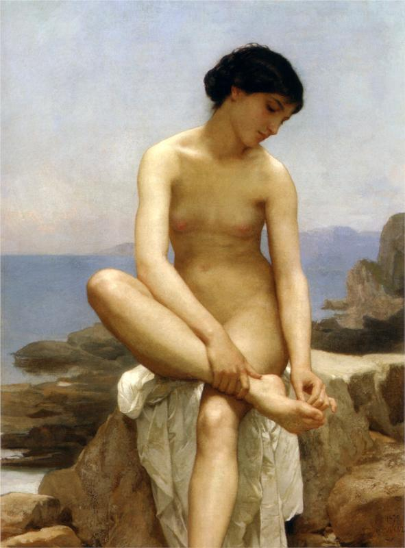 William-Adolphe Bouguereau - The Bather (1879)