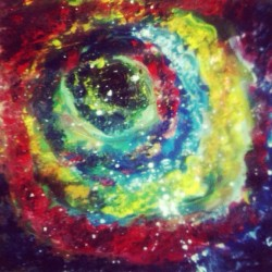 I painted the galaxy by hands. #paint #painting #art #artish #artist #arcylic #abstract #galaxy #likeback #following