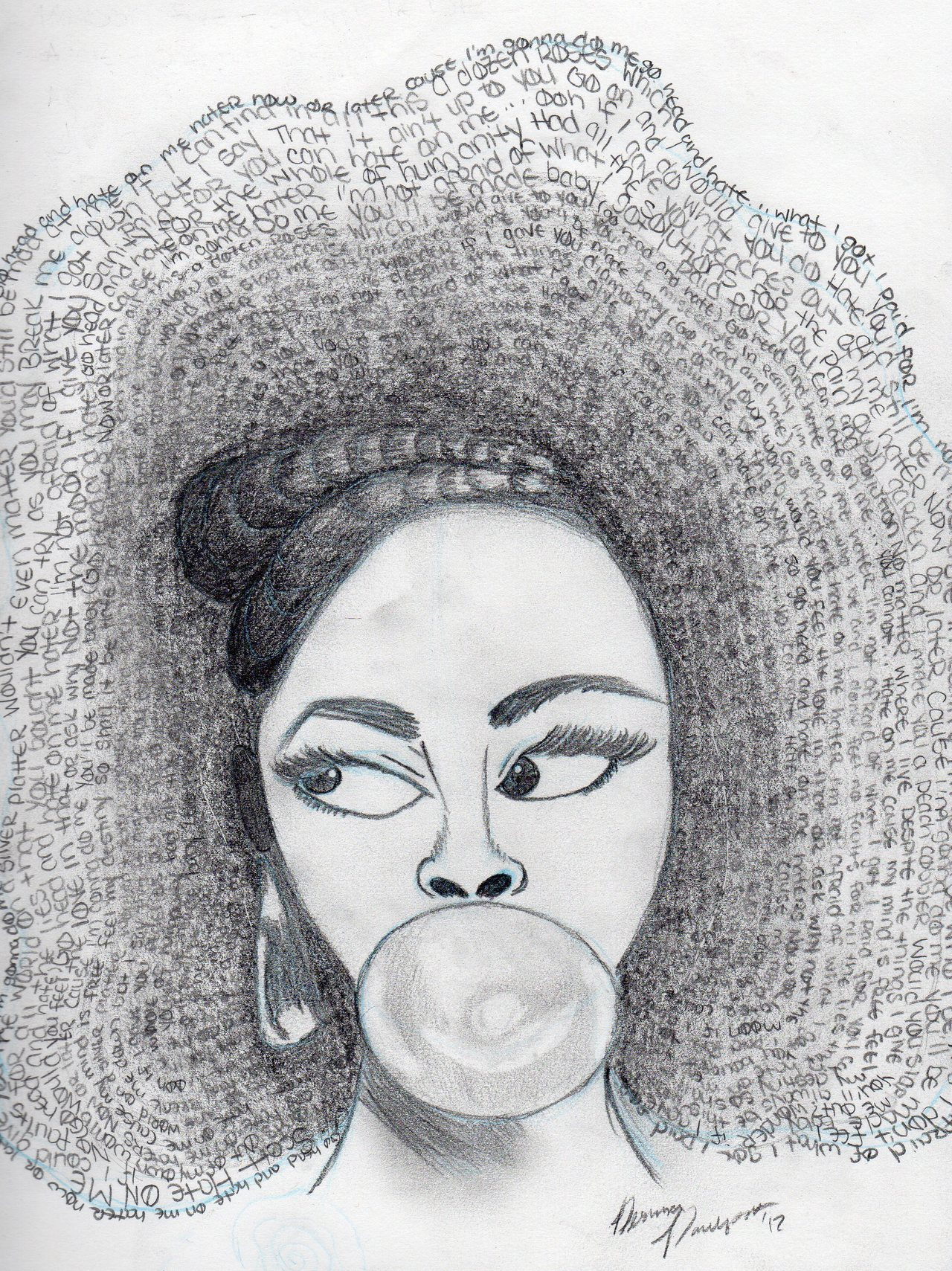 "ninaclimax:  Because I had to draw Jill Scott for my fundamental of Design class. I love her and her lyrics are powerful.  Check out more of my art work at the following links: Pixel Me for my more ""finished"" work Long And Drawn Out for my sketchbook"