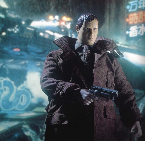 1/6th scale figure of Deckard from Blade Runner. Hobby Japan EX, Autumn 1993.