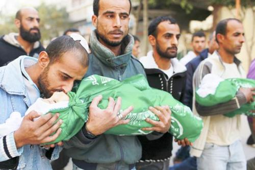 thepeoplesrecord:  The Gaza death toll has reached 111, including 27 children, since Israel launched more than 1,350 Operation Pillar of Defense aerial and sea attacks on November 14. More than 900 have been injured.  The Israel death toll stands at three people. More than 60 have been injured by rockets fired from Gaza.