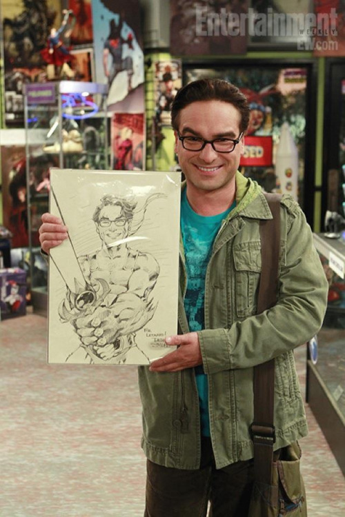 crackappella:  Look its Leonard with a cartoon caricature of him in Lion-O's body— or should we call him as… Leonard-O!  Thundercats, HOO!!!~