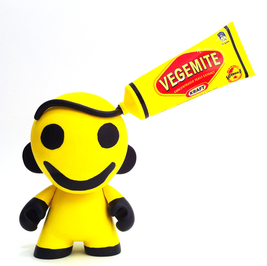 Vinnie the Vegemite Munny.  Custom Munny. By ARCH