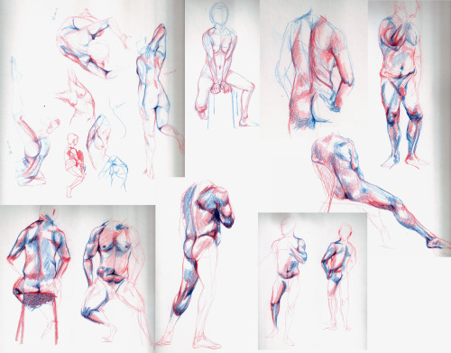 figure drawings through the semester last friday was the last drawing lab for the semester all drawings vary between 10-15 minute poses