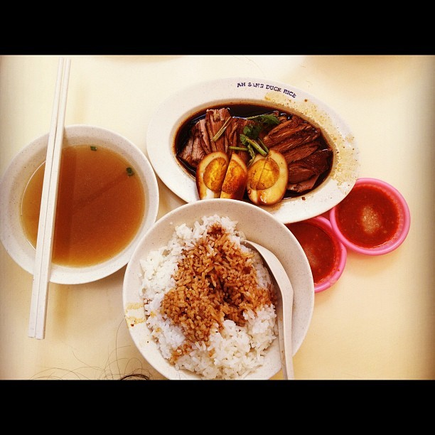 Duck rice at Serangoon gardens @braceskisses @fiyeona @miineu #duck #rice #serangoon #chinese