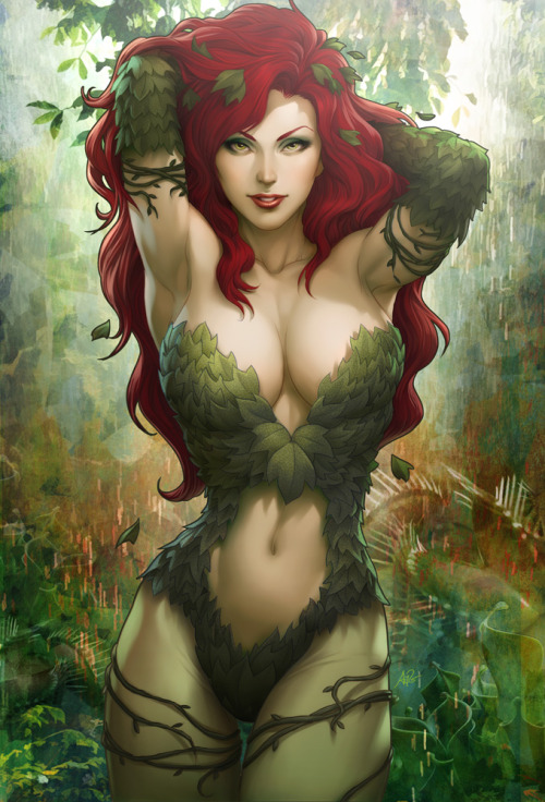 A.M. Inspiration  Poison Ivy Sideshow Art by Artgerm