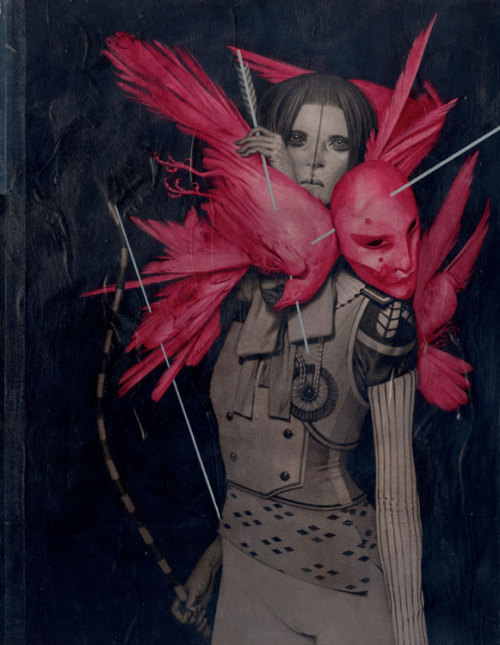 "ssdmmfr:  Artist & Illustrator: Feral Kid (aka) João Ruas ""Kyudo"" Acrylic on Board 30.3 cm x 39.5 cm 2012    ""I will be participating with two paintings in the upcoming group show ""LAX/HKG"", a joint effort by Thinkspace Gallery (US) and Above Second Gallery (Hong Kong). The show runs from Nov, 16th '12 till Jan 12th '13 @ 31 Eastern St, Sai Ying Pun, Hong Kong. For more details and to check the lineup I am proud to be alongside:"" http://blog.above-second.com/laxhkg/"